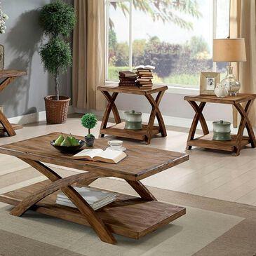 Furniture of America Duran 3-Piece Table Set in Antique Light Oak, , large