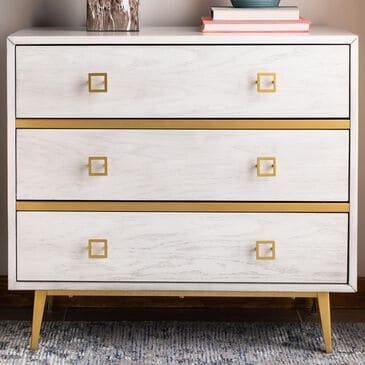 Safavieh Katia 3 Drawer Chest in White Washed/Gold, , large
