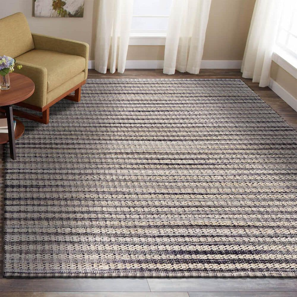 L&R Resources Bleached Naturals 8' x 10' Brown Area Rug, , large