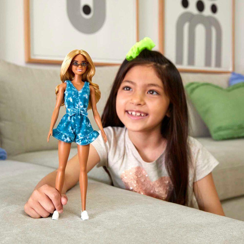 Mattel Barbie Fashionistas Blonde and Blue Dress, , large