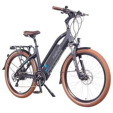 Magnum Metro Electric Low Step Bike in Matte Black, , large