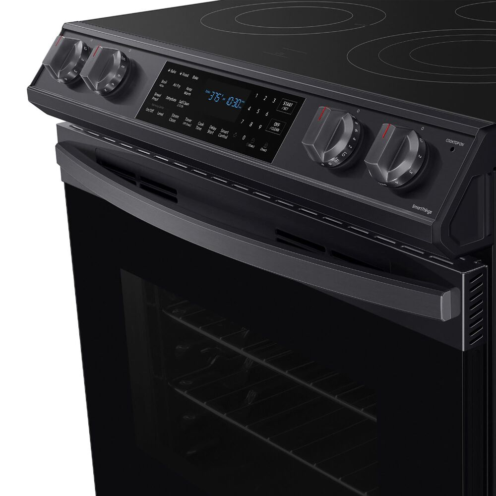 Samsung 6.3 Cu. Ft. Front Control Slide-in Electric Range with Air Fry and Wi-Fi in Black Stainless Steel, , large