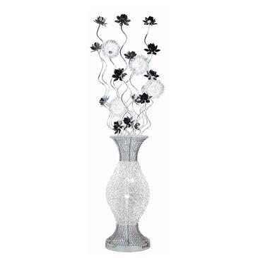 Anthony California Flower Floor Lamp in Chrome, , large