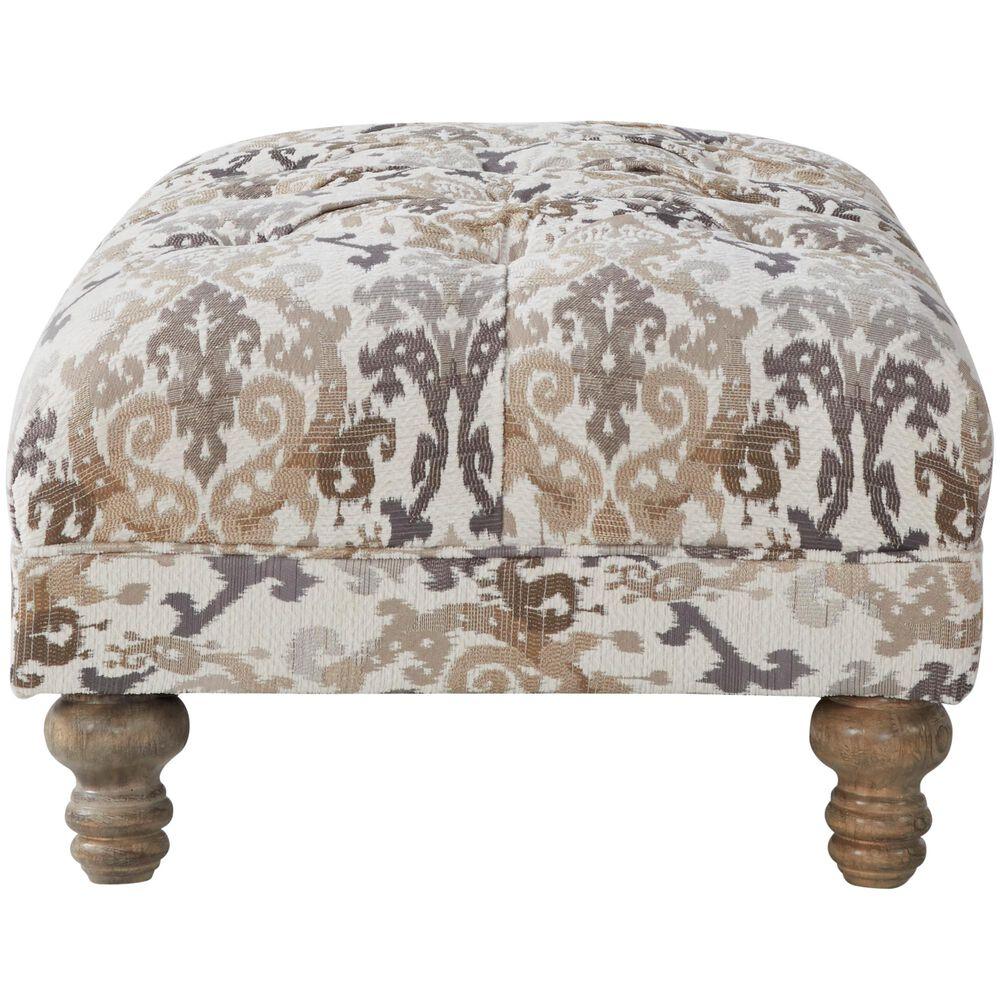 Hughes Furniture Ottoman in Kimani Marble, , large