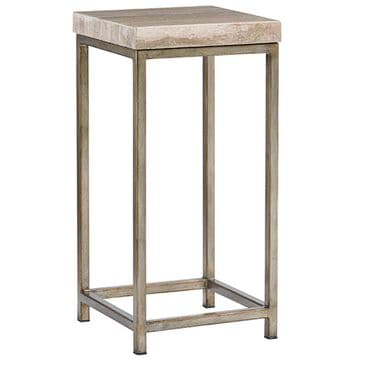 Lexington Furniture Laurel Canyon Ashcroft Accent Table in Hand-Burnished Silver, , large