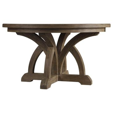 Hooker Furniture Corsica Round Dining Table with 1-Leaf in Light Natural Acacia - Table Only, , large