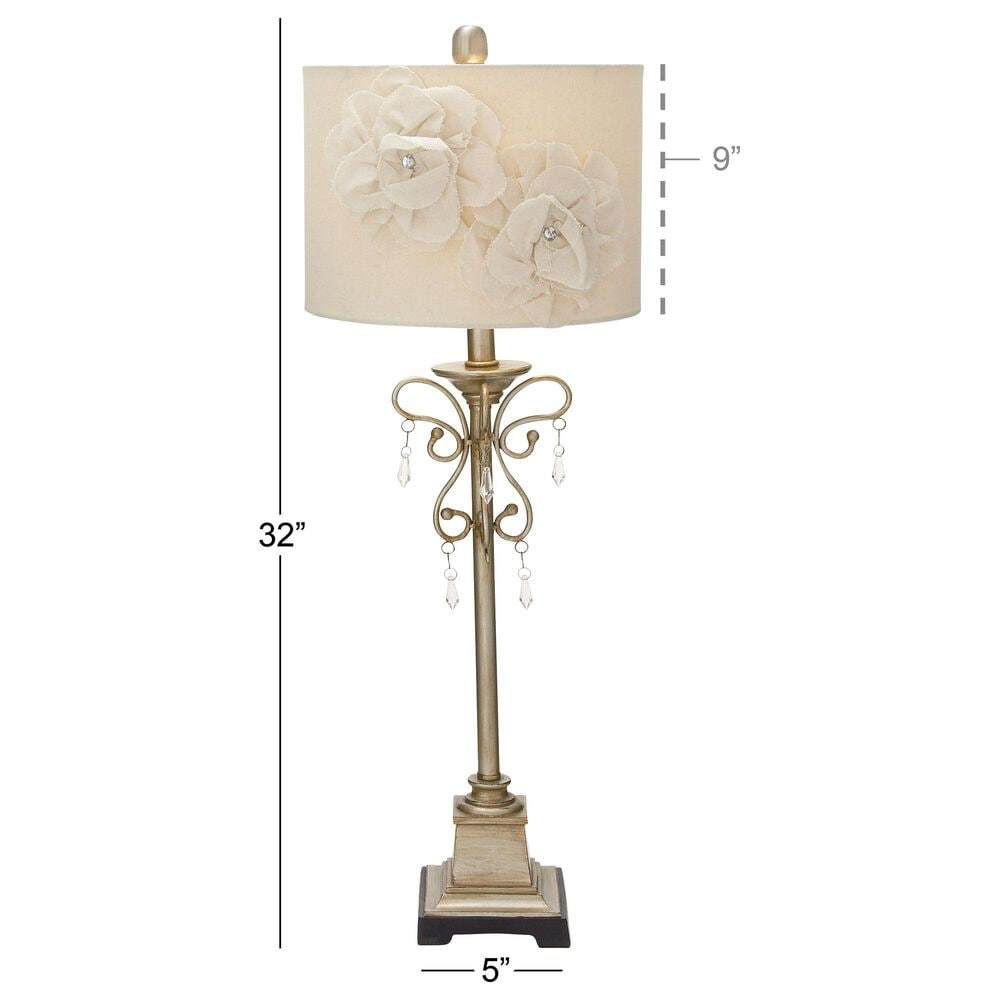 Maple and Jade Traditional  Glam Metal Buffet Lamp in Tan (Set of 2), , large