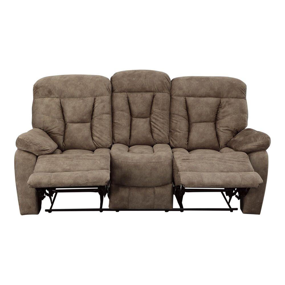 Crystal City Bogata Manual Reclining Sofa in Mushroom, , large
