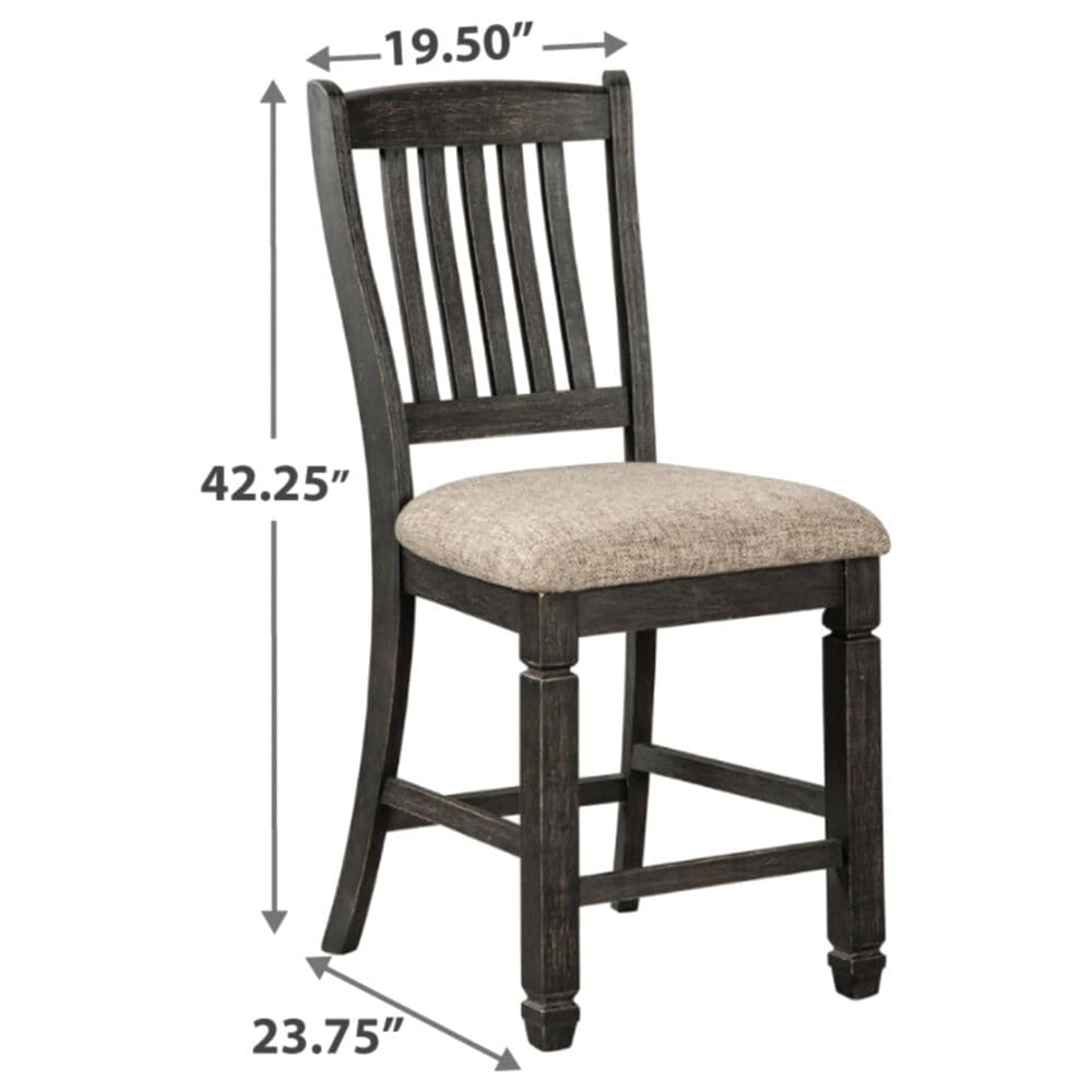 Signature Design by Ashley Tyler Creek Counter Stool in Grayish Brown (Set of 2), , large