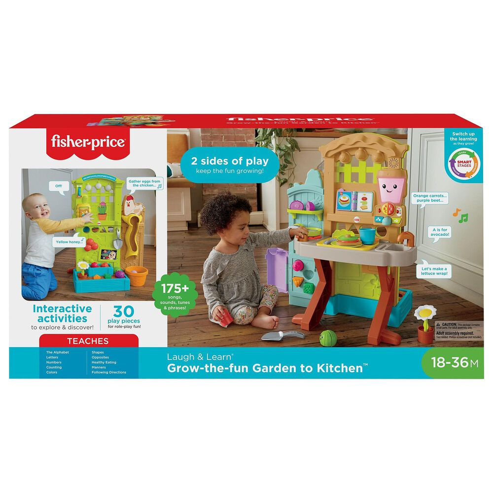 Fisher-Price Laugh & Learn Grow the Fun Garden to Kitchen Playset, , large