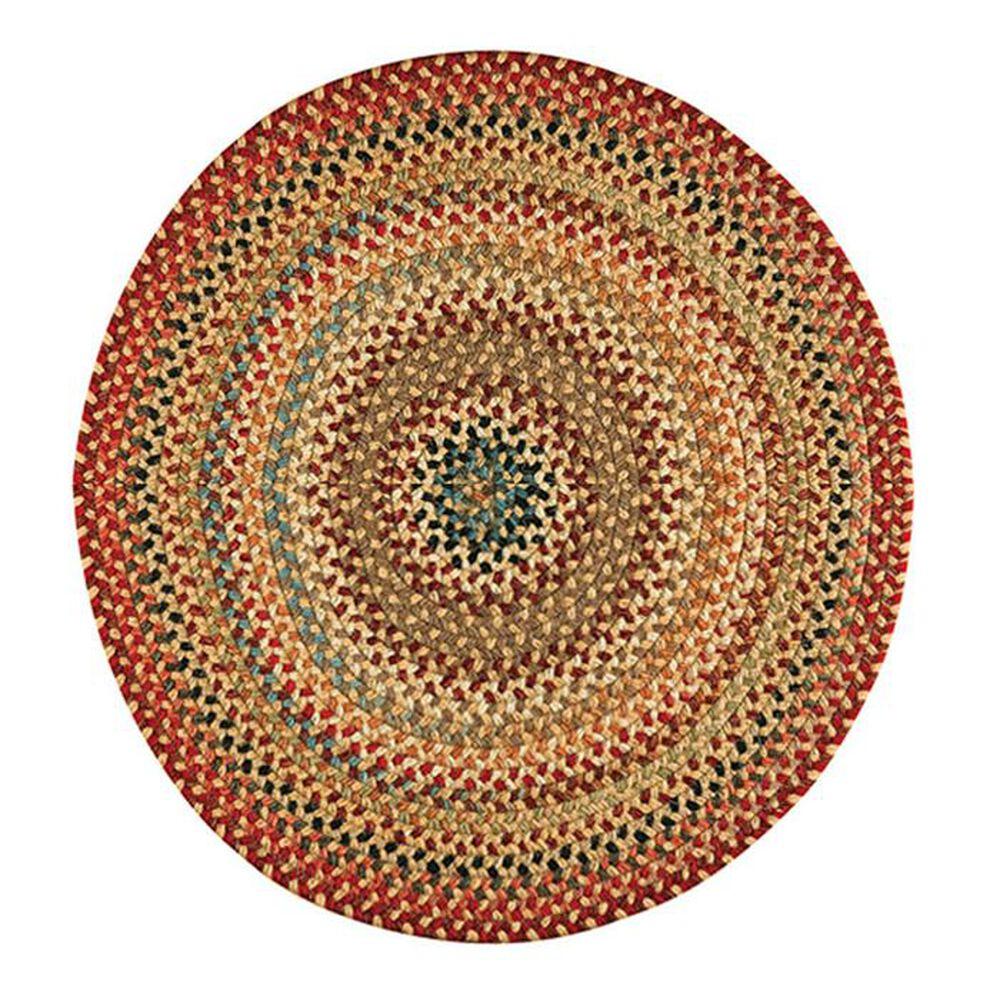"Capel Americana 0346-100 7'6"" Light Gold Round Area Rug, , large"