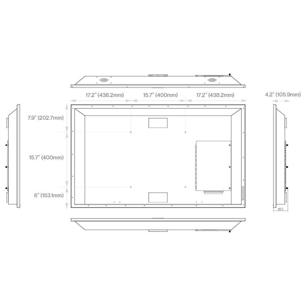 "Furrion Aurora 55"" Class 4K LED UHD Partial Sun Outdoor TV, , large"