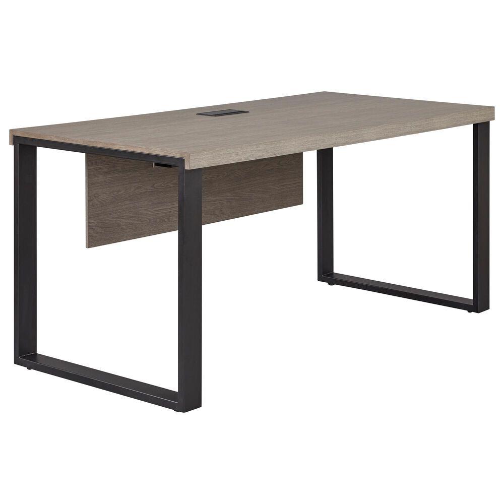 Unique Furniture Stavanger Desk in Dark Grey and Black, , large
