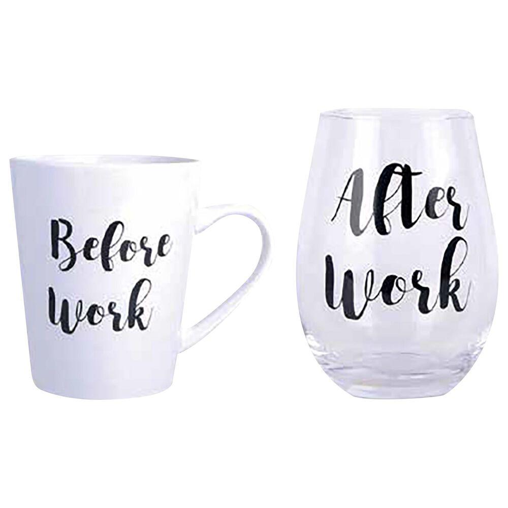 Home Essentials & Beyond 16 Oz Mug and 19 Oz Stemless Glass Set, , large