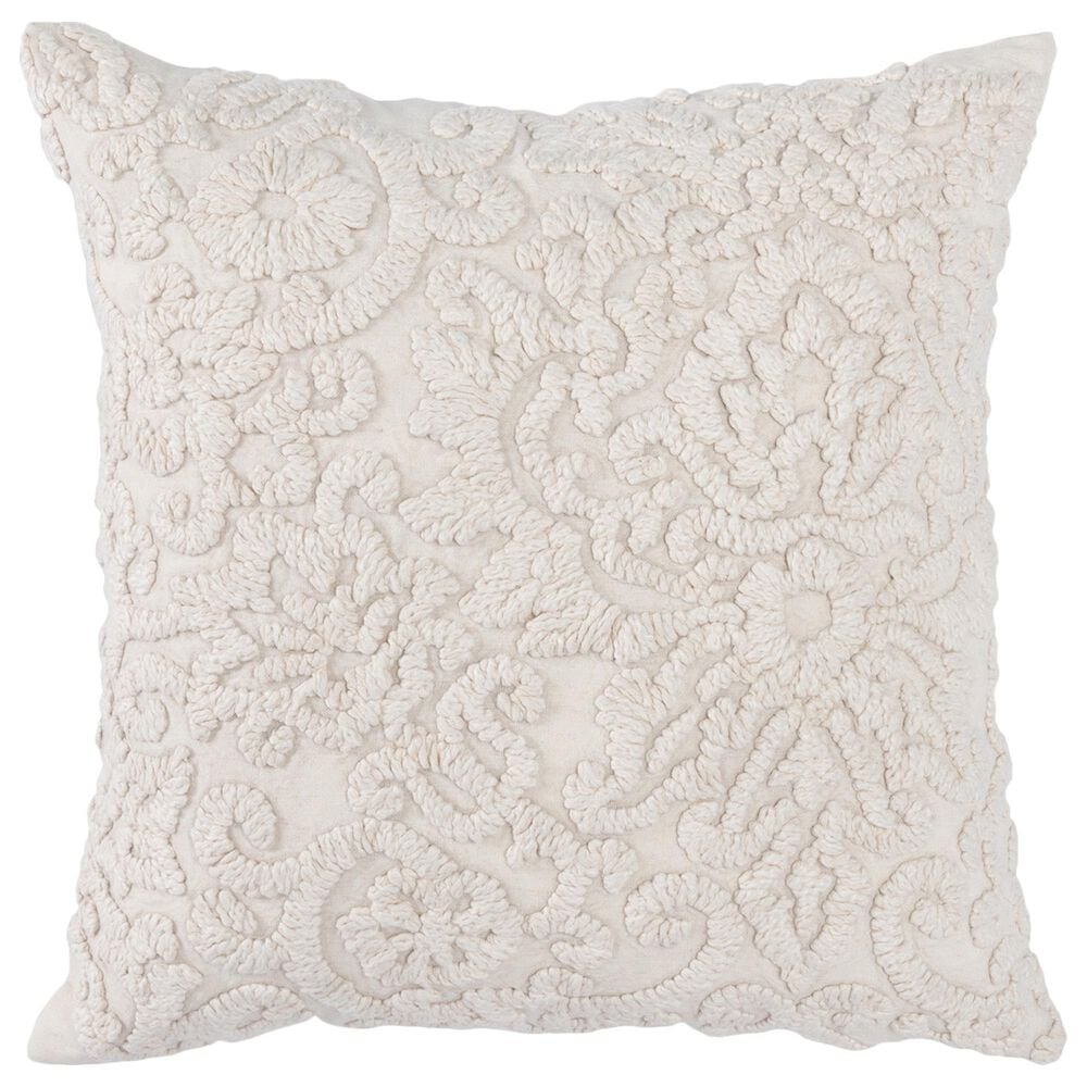 """Classic Concepts Eminence Amy 20"""" x 20"""" Pillow in Light Natural, , large"""
