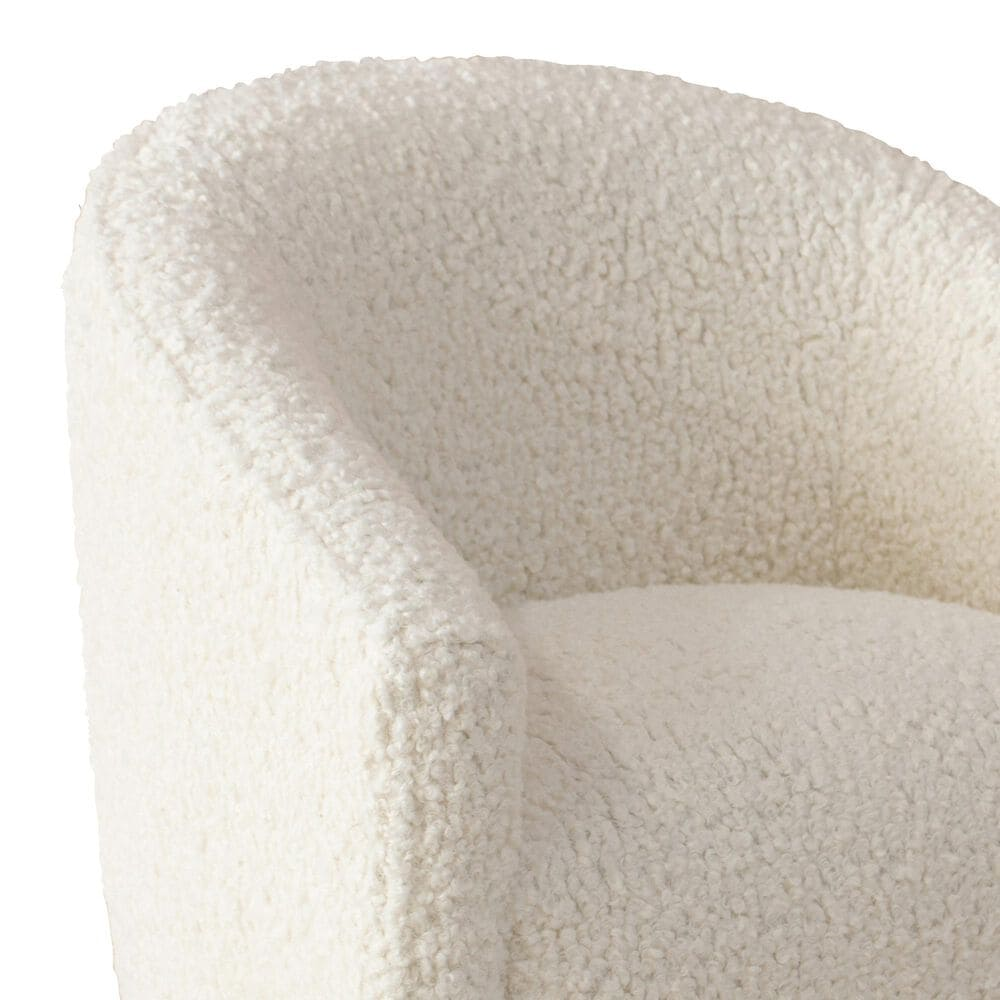 Skyline Furniture Upholstered Kids Chair in Sheepskin Natural, , large