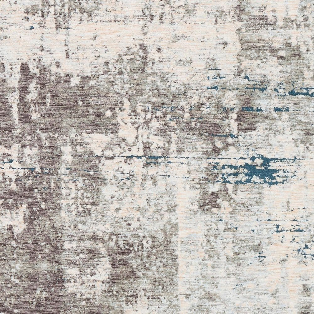"""Surya Presidential PDT-2301 3'3"""" x 8' Blue, Gray and Orange Scatter Rug, , large"""