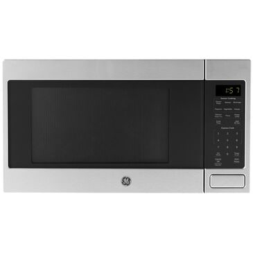 GE Appliances 1.6 Cu. Ft. Countertop Microwave Oven with Sensor Cooking Controls in Stainless Steel , Stainless Steel, large
