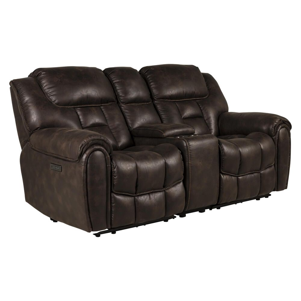 Oxford Furniture Cheers Power Reclining Loveseat in Cowboy Dark Brown, , large