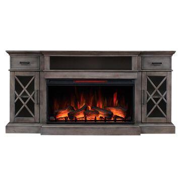 Fabio Flames Hamilton Panorama Media Mantel in Weathered Gray, , large