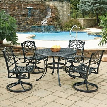 Home Styles Sanibel 5-Piece Dining Set in Black, , large