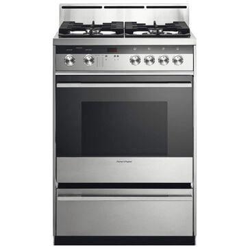 """Fisher and Paykel 24"""" Dual Fuel Freestanding Gas Range in Stainless Steel, , large"""