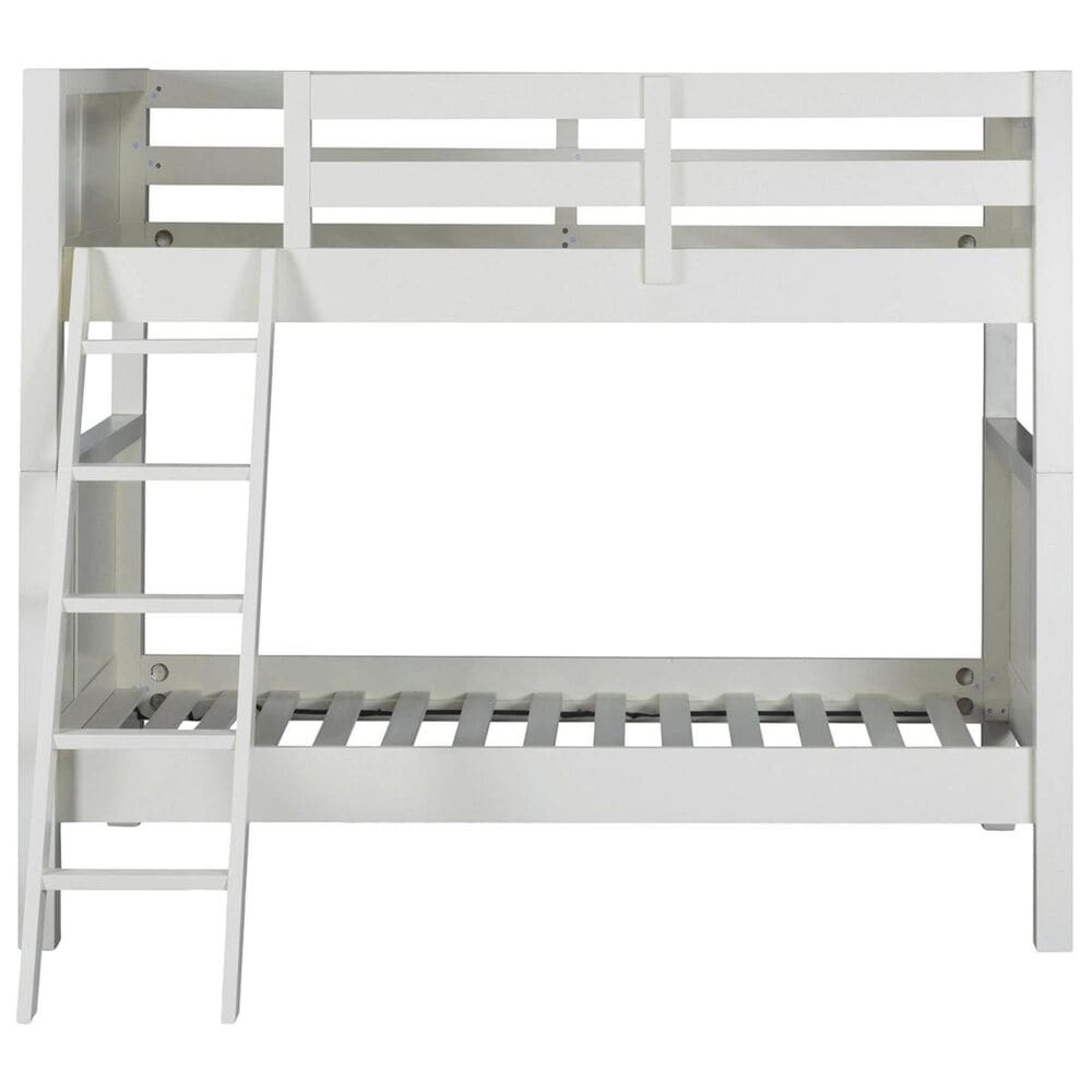 Homestyles Naples Twin over Twin Bunk Bed in Off white, , large