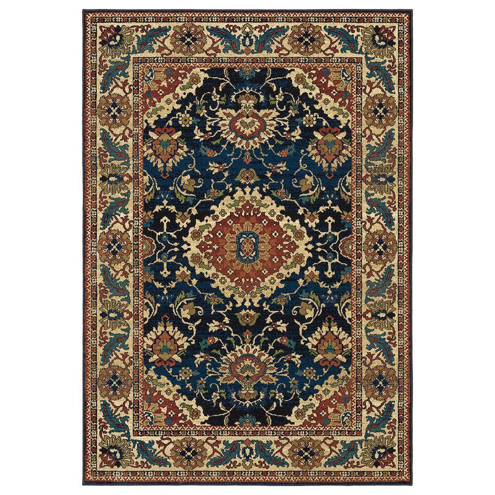 "Oriental Weavers Ankara Oriental 1803B 3""10"" x 5""5"" Blue Area Rug, , large"