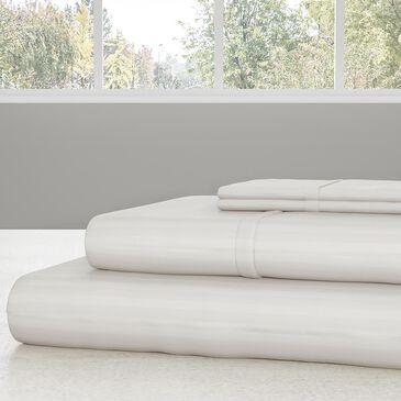 Timberlake Lavish Home 4-Piece Queen Sheet Set in White, , large