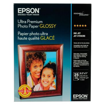 """Epson Ultra Premium Photo Paper Glossy (8.5 x 11"""", 25 Sheets), , large"""