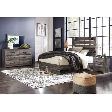 Signature Design by Ashley Drystan 4 Piece Queen Panel Bedroom Set in Brown Rustic, , large