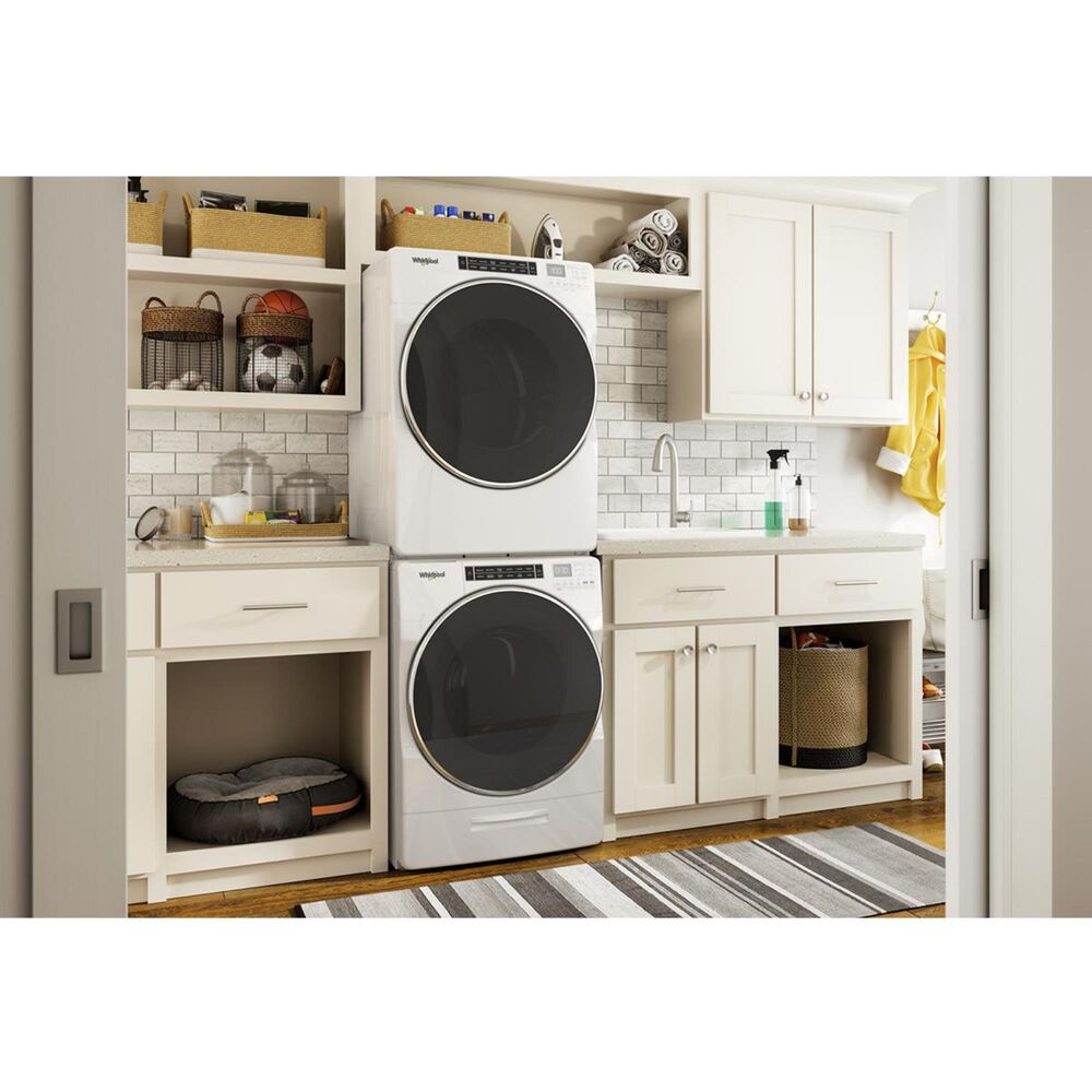 Whirlpool 7.4 Cu. Ft. Electric Dryer with Steam in White, , large