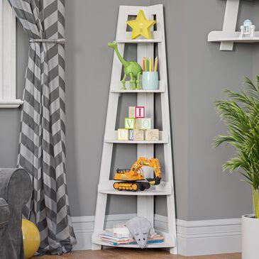 RiverRidge Home 5-Tier Corner Ladder Shelf in White, , large