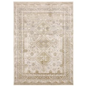 Feizy Rugs Aura 3738F 8' x 11' Gold and Ivory Area Rug, , large
