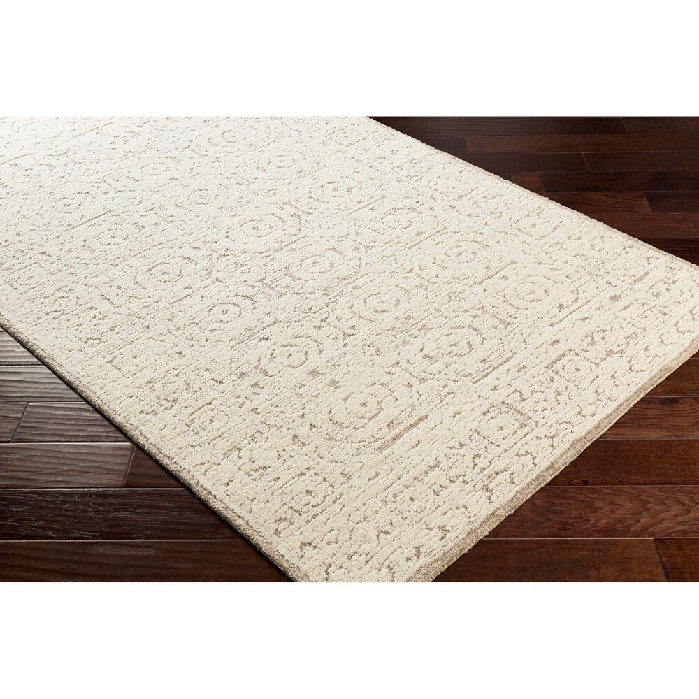 "Surya Louvre LOU-2301 5' x 7'6"" Khaki and Cream Area Rug, , large"