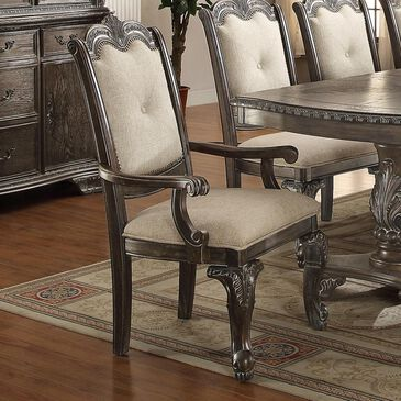 Nineteen37 Kiera Arm Chair in Antique Gray, , large