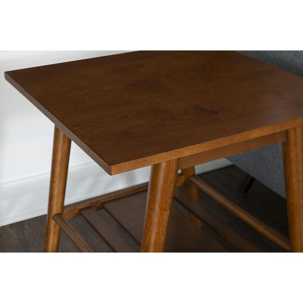 Linden Boulevard Cosgrove End Table in Warm Brown, , large