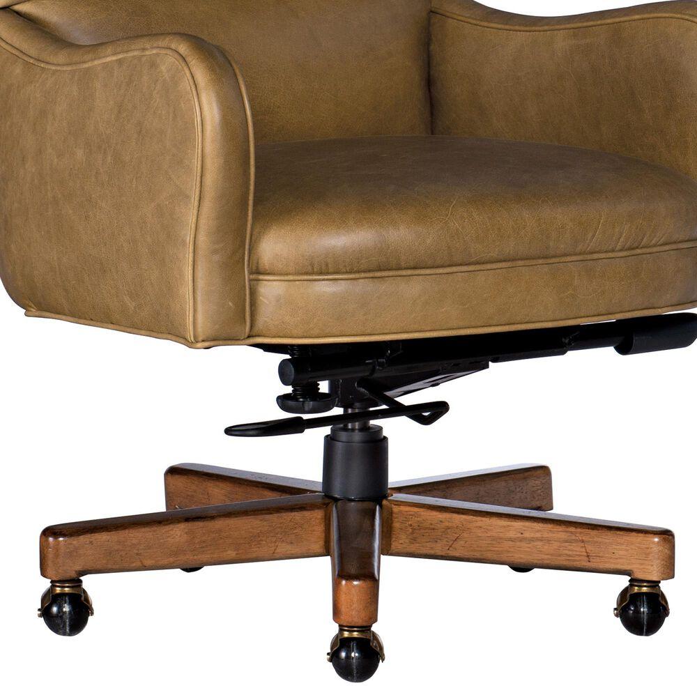 Hooker Furniture Dayton Swivel Tilt Leather Desk Chair in Pecan, , large