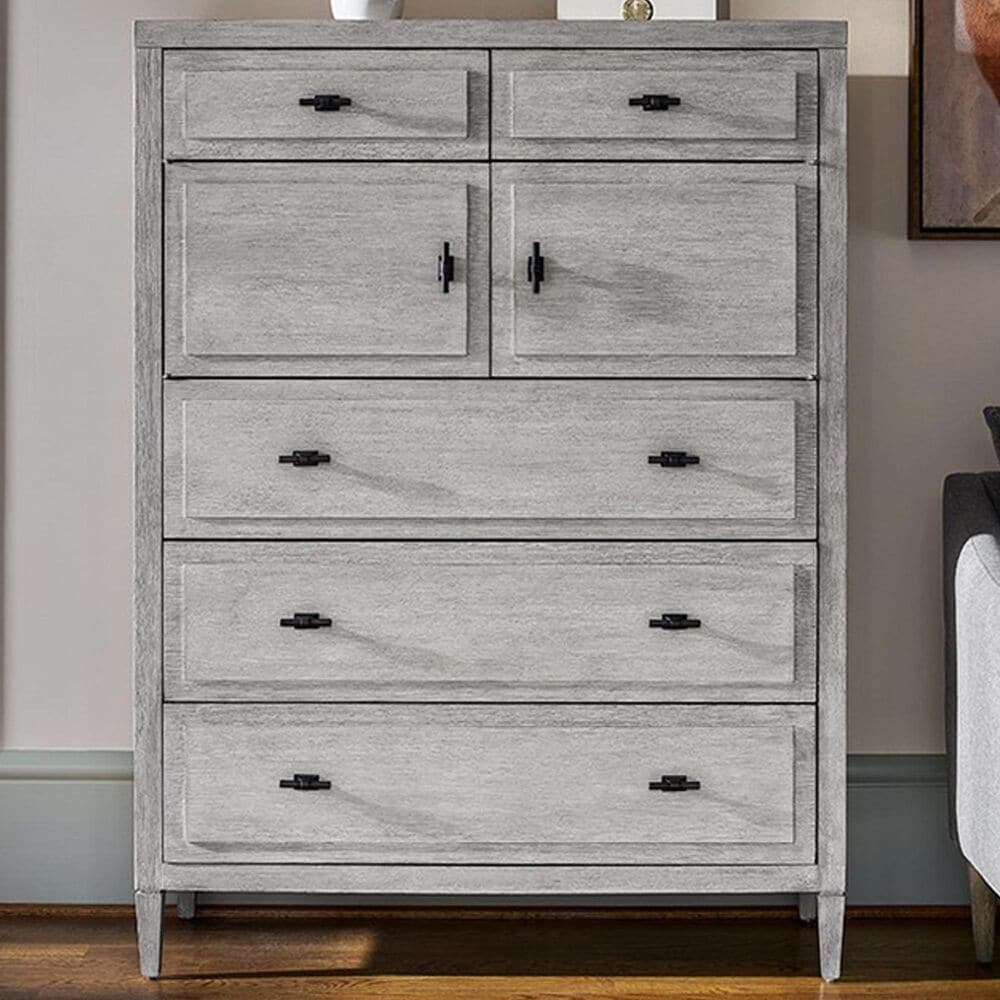 Furniture Worldwide Midtown 5 Drawer Chest in Flannel, , large