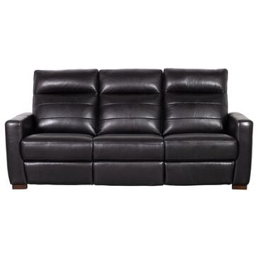 Violino Power Recliner Sofa with Power Headrest in Classico Black Leather Match , , large