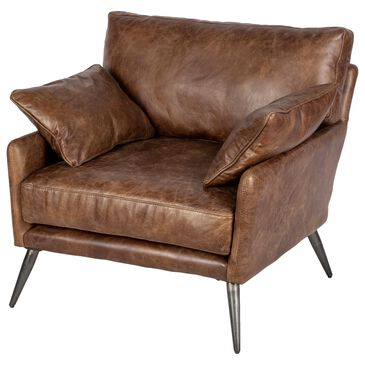 Mercana Cochrane Leather Chair in Espresso, , large