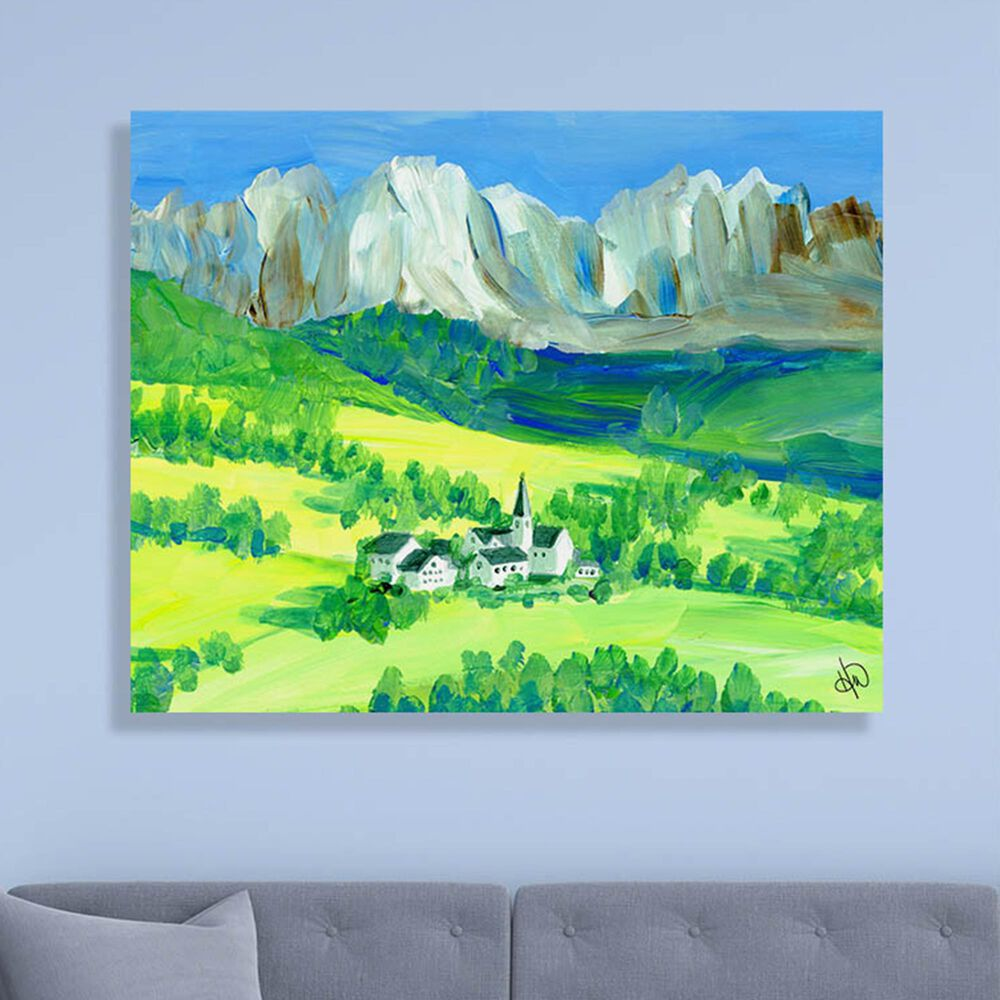 "Kathy Ireland Home ""Swiss Alps"" 11"" x 14"" Canvas Wall Art Print, , large"