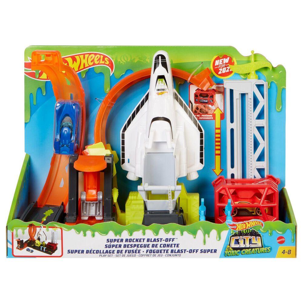 Hot Wheels Super Rocket Blast-Off Play Set, , large