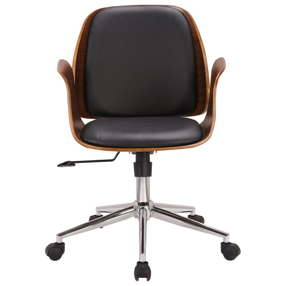 Blue River Santiago Office Chair in Black and Walnut, , large
