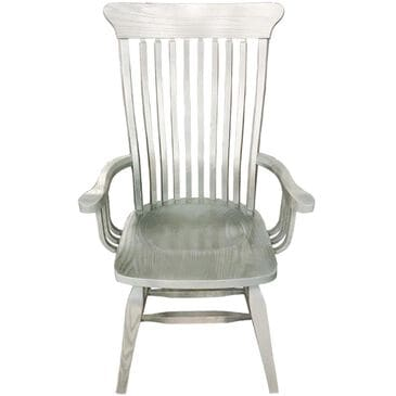 Daniel's Amish Collection Old Country Arm Chair in Gray Stone, , large