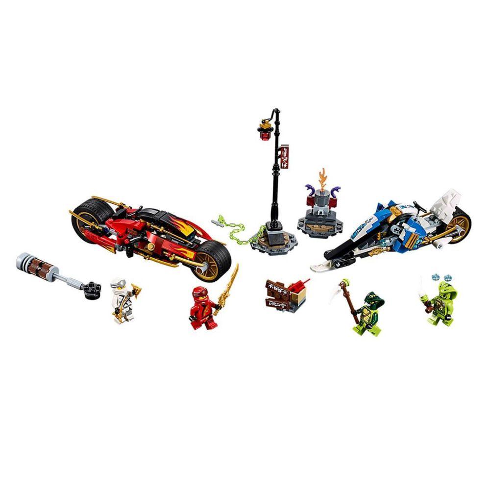 LEGO Ninjago Kai's Blade Cycle and Zane's Snowmobile, , large