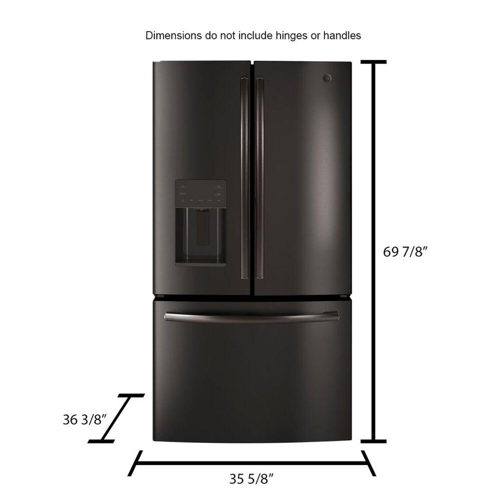 GE Appliances 25.5 Cu. Ft. French Door Refrigerator in Black Slate, , large