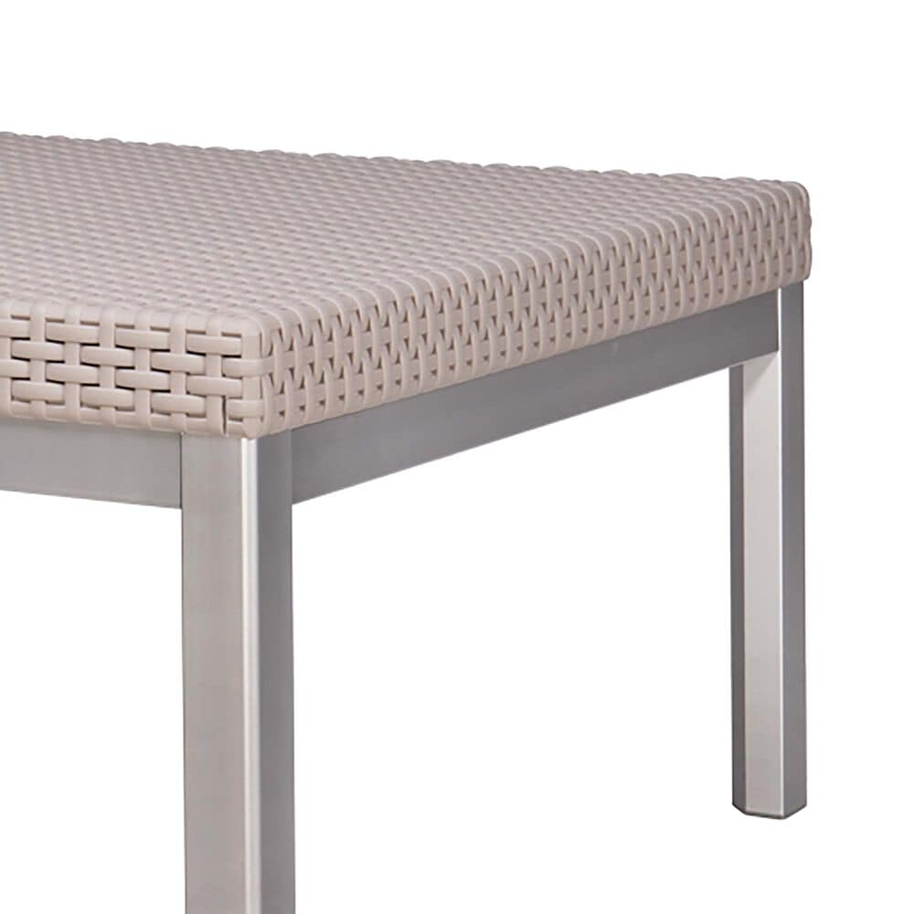Lagoon Furniture Russ Rattan Coffee Table in Grey, , large