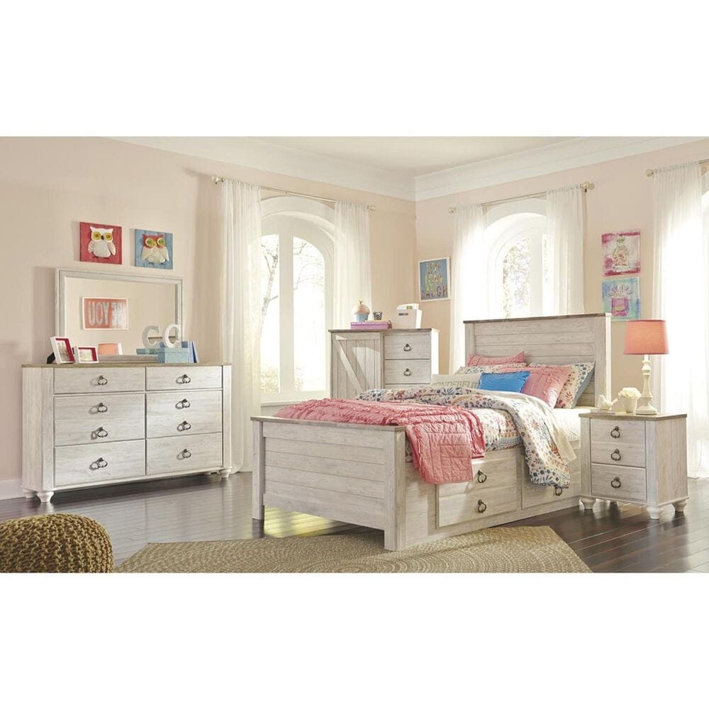 Signature Design by Ashley Willowton Dressing Chest in Whitewash, , large