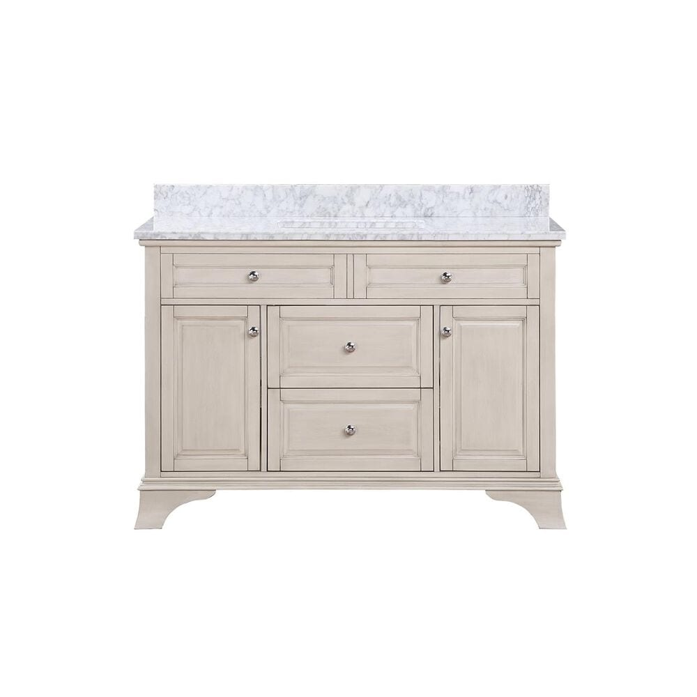 "Aurafina Wainwright 48"" Vanity with Top and Sink in Rustic White, , large"